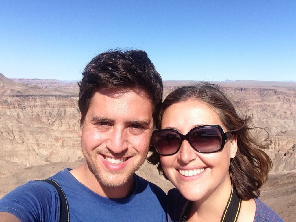 Selfie at the Fish River Canyon, Namibia