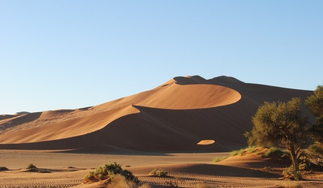 Scrambling Up the Sand Dunes at Sossusvlei