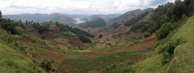 Panorama of Uganda countryside