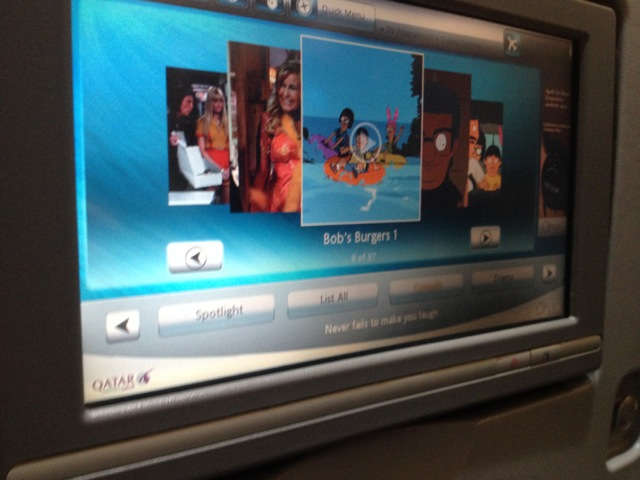 Qatar Airways In-Flight Bob's Burgers | www.nonbillablehours.com