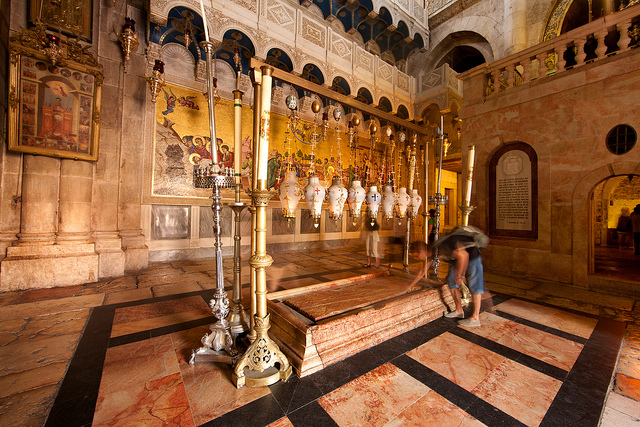 Stone of Unction, Church of Holy Sepulchre, Jerusalem, Israel - www.nonbillablehours.com