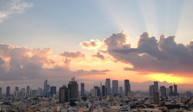 tel-aviv-sunset-city